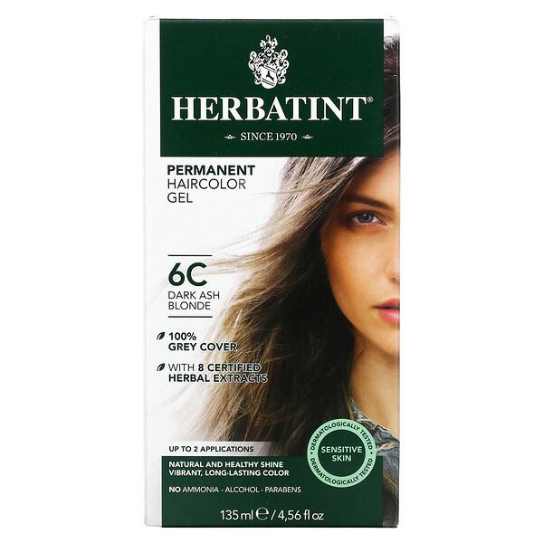 Permanent Haircolor Gel, 6C, Dark Ash Blonde, 4.56 fl oz (135 ml)