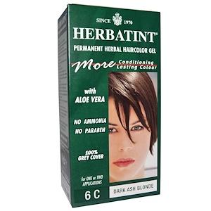 Herbatint, Стойкий растительный гель-краска для волос, 6C, темный пепельный блонд, 4,56 жидких унции (135 мл) инструкция, применение, состав, противопоказания
