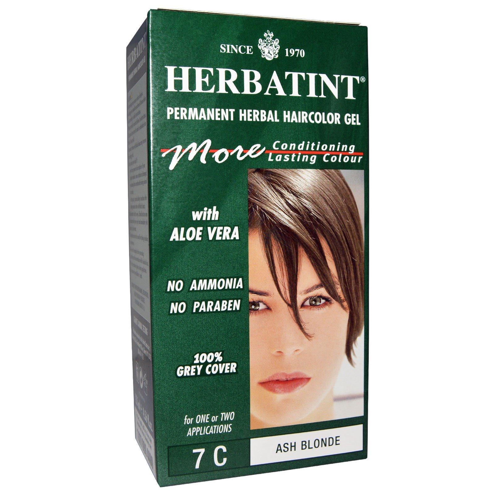 Herbatint, Permanent Herbal Haircolor Gel, 7C, Ash Blonde, 4.56 fl ...