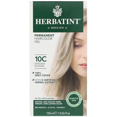 Перманентная гель-краска для волос, 10С, шведский блонд, 135 мл  - купить со скидкой
