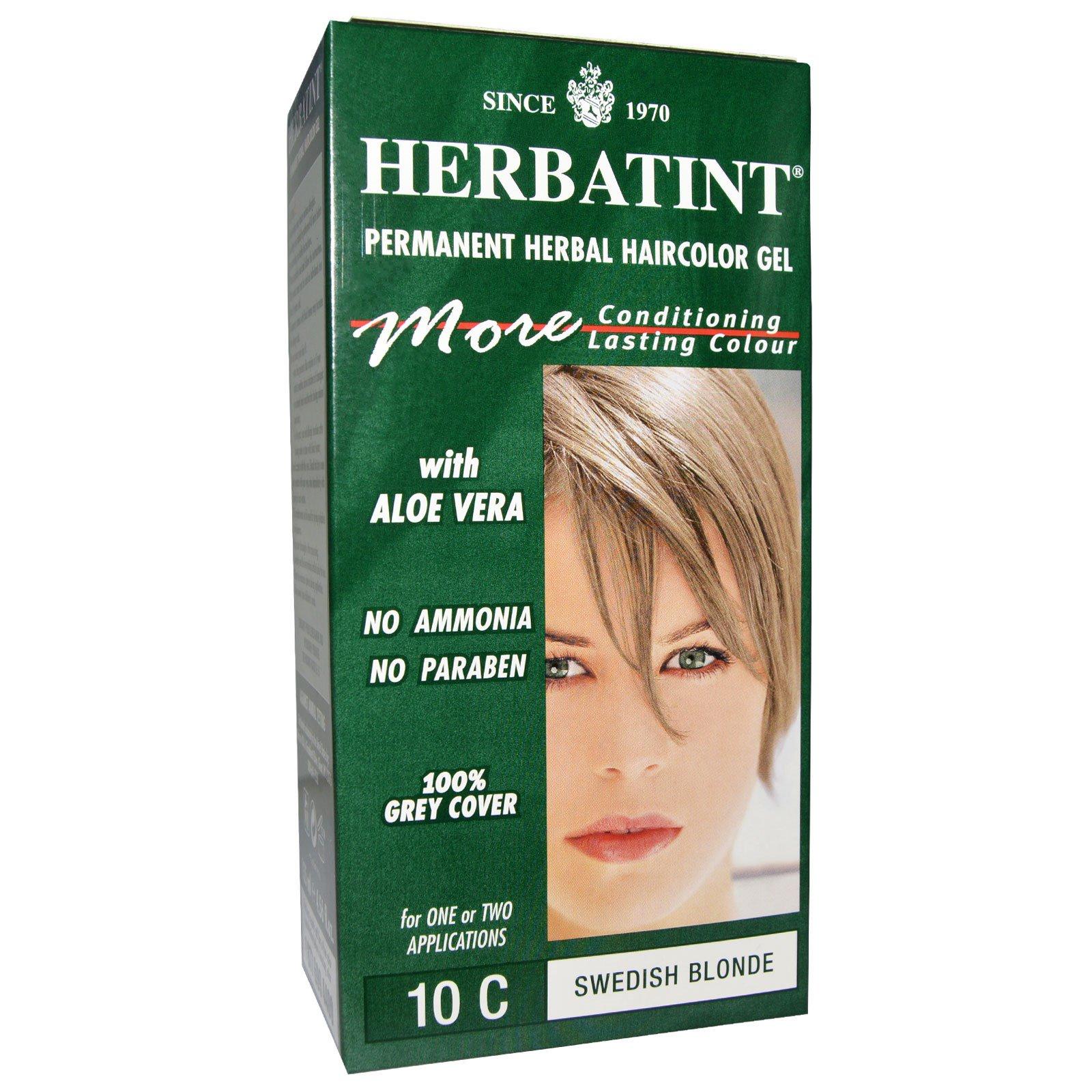 Herbatint, Стойкий растительный гель-краска для волос, 4R, шведский блонд, 4,56 жидких унций (135 мл)