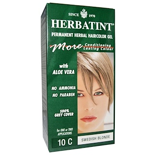 Herbatint, Permanent Herbal Haircolor Gel, 10C, Swedish Blonde, 4.56 fl oz (135 ml)
