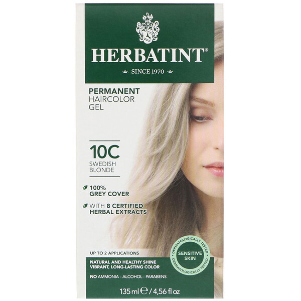 Permanent Haircolor Gel, 10C, Swedish Blonde, 4.56 fl oz (135 ml)