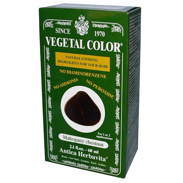 Herbatint, Vegetal Color, Mahogany Chestnut, 2.1 fl oz (60 ml)  (Discontinued Item)