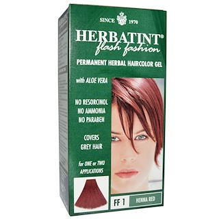 Herbatint, Permanent Herbal Haircolor Gel, FF 1 Henna Red, 4.56 fl oz (135 ml)