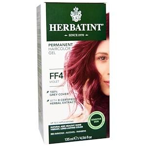 Хербатинт, Permanent Haircolor Gel, FF 4, Violet, 4.56 fl oz (135 ml) отзывы покупателей