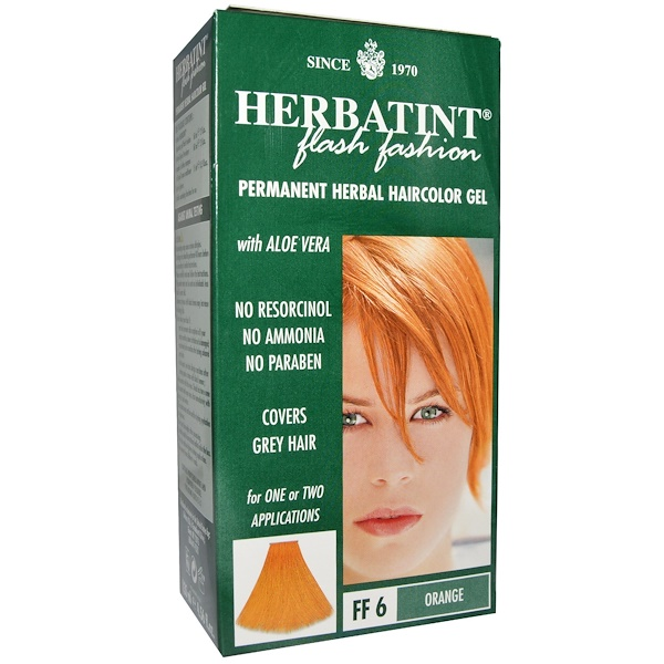 Herbatint, Permanent Herbal Haircolor Gel, FF 6 Orange, 4.5 fl oz (135 ml) (Discontinued Item)