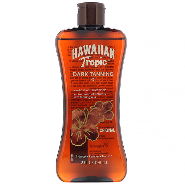 Hawaiian Tropic, Aceite para bronceado oscuro, Original, 236 ml (8 oz. líq.)