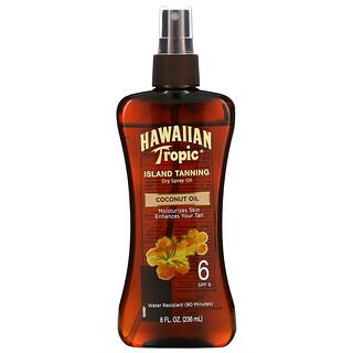 Hawaiian Tropic, Island Tanning Dry Spray Oil, Coconut Oil, SPF 6, 8 fl oz (236 ml)