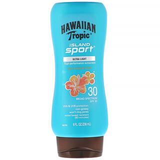 Hawaiian Tropic, Island Sport, High Performance Sunscreen, SPF 30, Light Tropical Scent, 8 fl oz (236 ml)