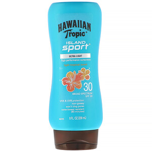 Hawaiian Tropic, Island Sport, High Performance Sunscreen, SPF 30, Light Tropical Scent, 8 fl oz (236 ml) отзывы покупателей