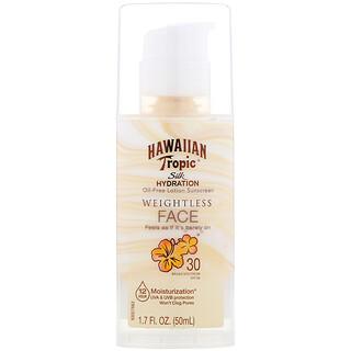 Hawaiian Tropic, Silk Hydration, Weightless Face, Oil-Free Sunscreen Lotion , SPF 30, 1.7 oz (50 ml)
