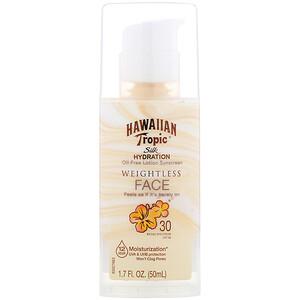 Hawaiian Tropic, Silk Hydration, Weightless Face, Oil-Free Sunscreen Lotion , SPF 30, 1.7 oz (50 ml) отзывы