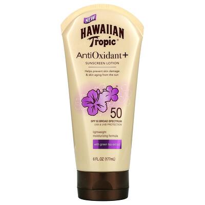 Hawaiian Tropic AntiOxidant+ Sunscreen Lotion, SPF 50, 6 fl oz (177 ml)
