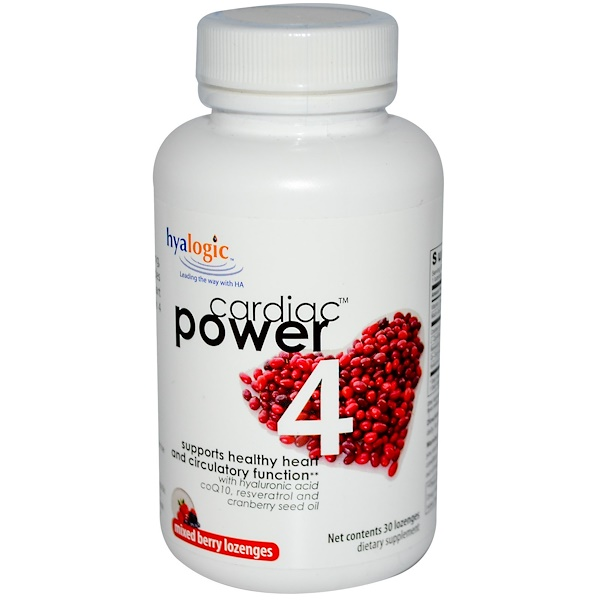 Hyalogic LLC, CardiacPower 4, Mixed Berry, 30 Lozenges (Discontinued Item)