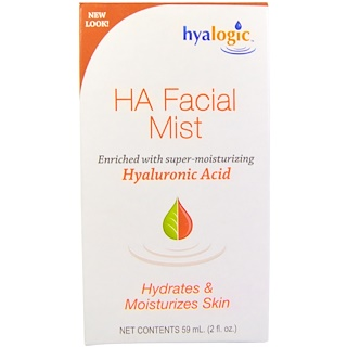 Hyalogic LLC, Brouillard facial AH avec acide hyaluronique, 2 oz (59 ml)