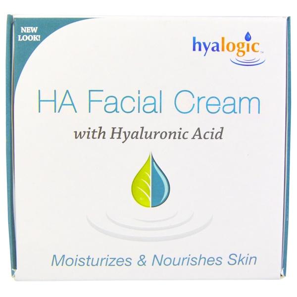 Hyalogic LLC, HA, крем для лица с гиалуроновой кислотоы, 2 жидкие унции (56,7 г) (Discontinued Item)