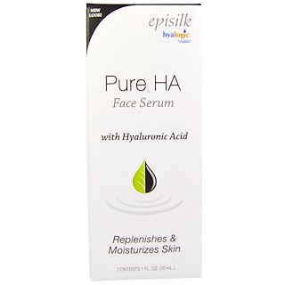 Hyalogic LLC, Episilk, Pure HA Face Serum, 1 fl oz (30 ml)