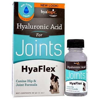 Hyalogic LLC, Hyaluronic Acid, HyaFlex, For Dogs, 1 oz (30 ml)