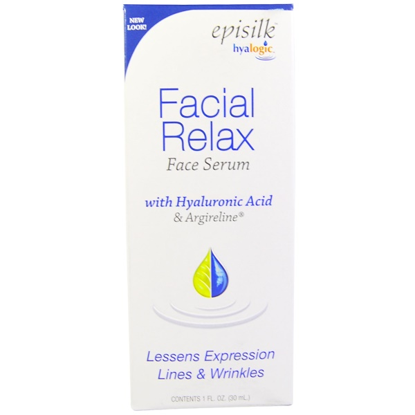 Hyalogic LLC, Episilk, Suero de Relajación Facial, 1 fl oz (30 ml)