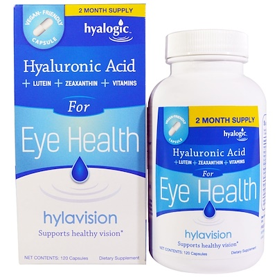 Купить Hyalogic Hylavision, гиалуроновая кислота, 120 капсул