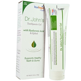 Hyalogic LLC, Dr. John's Toothpaste Gel, Mint, 4.58 oz (130 g)