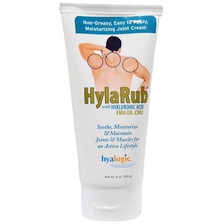 Hyalogic LLC, HylaRub, Joint Cream, 6 oz (168 g)