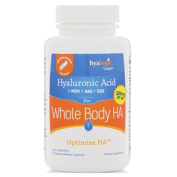 Hyalogic, Optimize HA, Hyaluronic Acid for Whole Body HA, 30 Delayed Release Capsules (Discontinued Item)