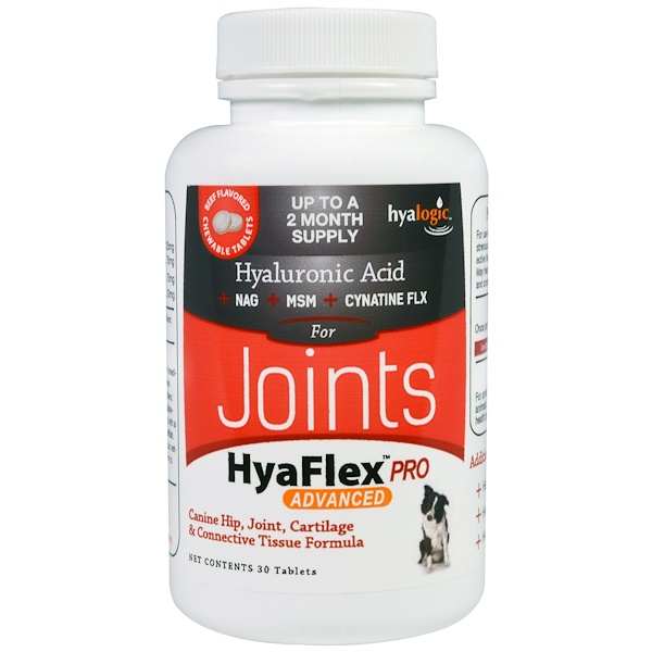 Hyalogic, Hyaluronic Acid for Joints, HyaFlex Pro Advanced, Beef Flavored, 30 Tablets (Discontinued Item)