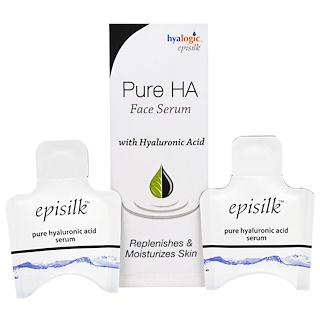 Hyalogic LLC, Episilk, Pure HA Face Serum, with Hyaluronic Acid, 2 Pieces