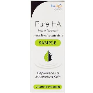 Hyalogic LLC, エピシルク、ヒアルロン酸配合ピュアHAフェイスセラム、サンプルパウチ2袋
