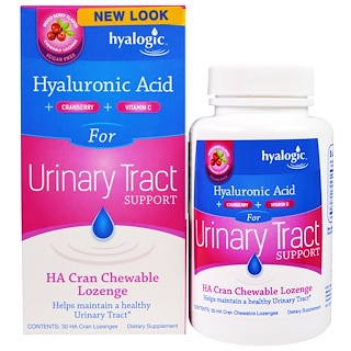 Hyalogic LLC, HA Cran Chewable Lozenge for Urinary Tract Support, Mixed Berry Flavor, 30 Lozenges