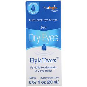 Хиалоджик ЛЛС, HylaTears, Lubricant Eye Drops for Dry Eyes, 0.67 fl oz (20 ml) отзывы покупателей