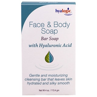 Hyalogic LLC, Face & Body Soap, With Hyaluronic Acid, 4 oz (113.4 g)