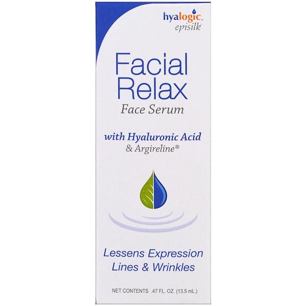 Hyalogic LLC, Facial Relax Face Serum, .47 fl oz (13.5 ml) (Discontinued Item)
