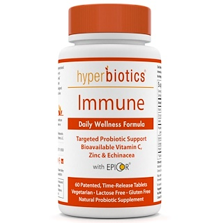 Hyperbiotics, Immune, Daily Wellness Formula, 60 Time-Release Tablets