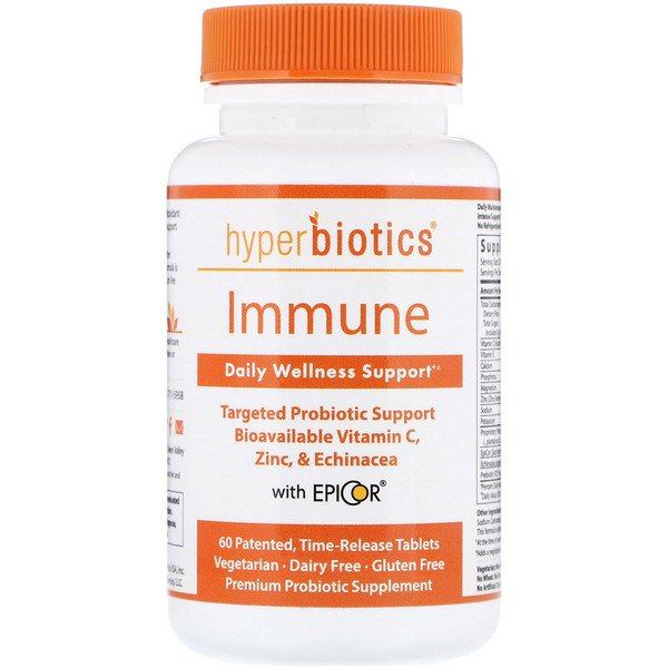 Hyperbiotics, Immune, Daily Wellness Support, 60 Time-Release Tablets