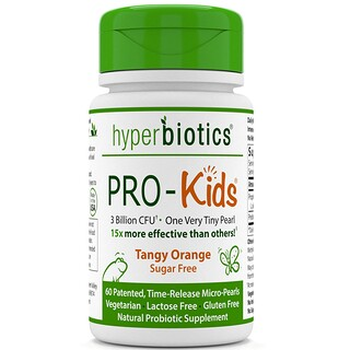 Hyperbiotics, PRO-Kids, Sugar Free, Tangy Orange, 60 Micro-Pearls