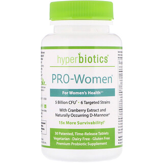 Hyperbiotics, PRO-Women, 5 Billion CFU, 30 Time-Release Tablets
