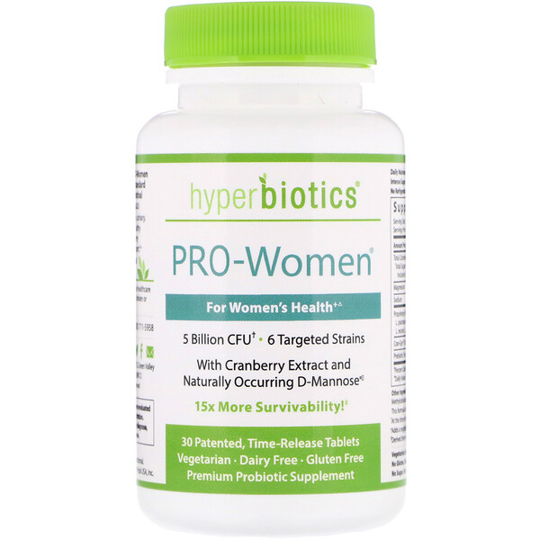 PRO-Women, 5 Billion CFU, 30 Time-Release Tablets