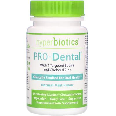 PRO-Dental, Natural Mint Flavor, 45 Patented LiveBac Chewable Tablets