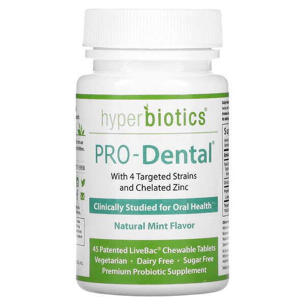 PRO-Dental, Natural Mint , 45 Patented LiveBac Chewable Tablets
