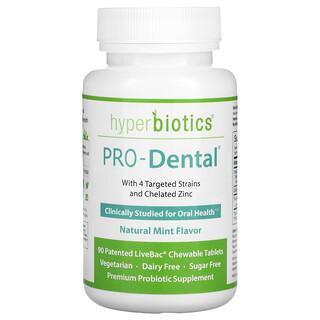 Hyperbiotics, PRO-Dental, Sabor a menta natural, 90comprimidos masticables