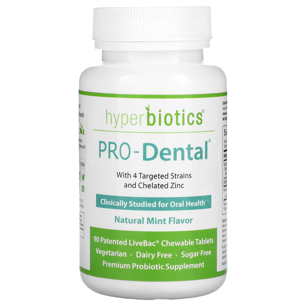 PRO-Dental، بنكهة النعناع الطبيعي، 90 قرص للمضغ