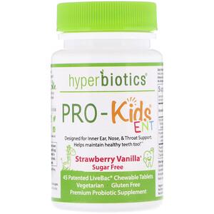ХайперБайотикс, PRO-Kids ENT, Sugar Free, Strawberry Vanilla, 45 Patented LiveBac Chewable Tablets отзывы