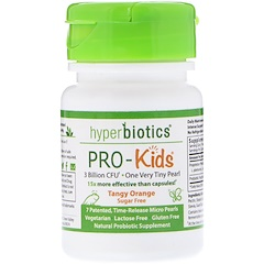 Hyperbiotics, PRO-Kids, Sugar Free, Tangy Orange, 7 Micro-Pearls
