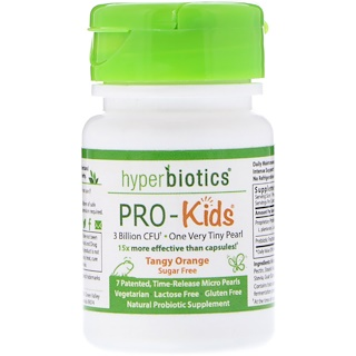 Hyperbiotics, PRO-Kids, Tangy Orange, Sugar Free, 7 Micro-Pearls