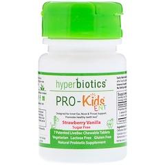 Hyperbiotics, PRO-Kids ENT, Strawberry Vanilla, Sugar Free, 7 Chewable Tablets