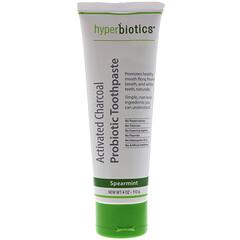 Hyperbiotics, 活性炭益生菌牙膏,薄荷,4盎司(113克)