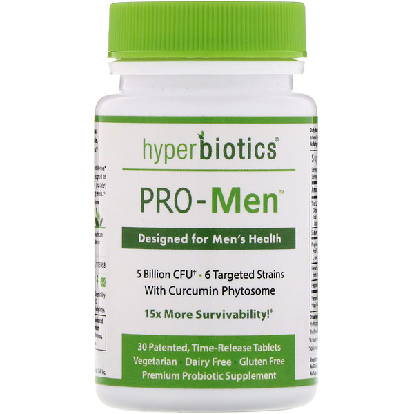 Hyperbiotics, PRO-Men, 5 Billion CFU, 30 Time-Release Tablets (Discontinued Item)